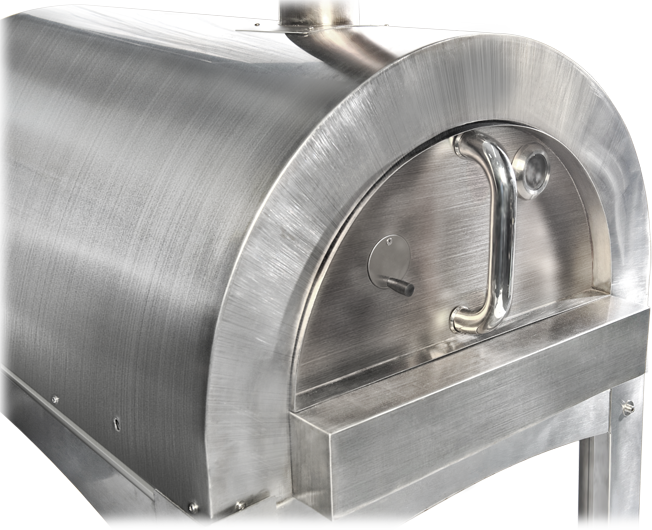 Residential stainless steel pizza oven